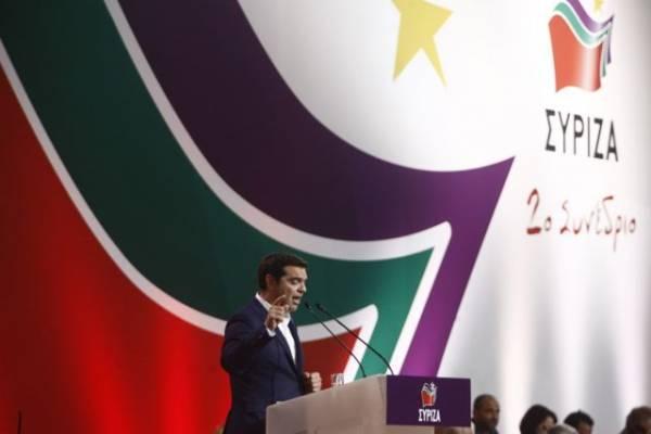 """Τσίπρας στο συνέδριο ΣΥΡΙΖΑ: """"Δε θα λυγίσουμε και τώρα απέναντι στο παλιό σύστημα και στη διαπλοκή του"""""""