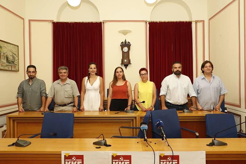 Παρουσίαση των υποψηφίων του ΚΚΕ στη Μεσσηνία (βίντεο)