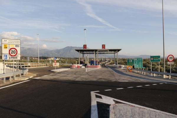 Οι τιμές των διοδίων του περιφερειακού της Καλαμάτας