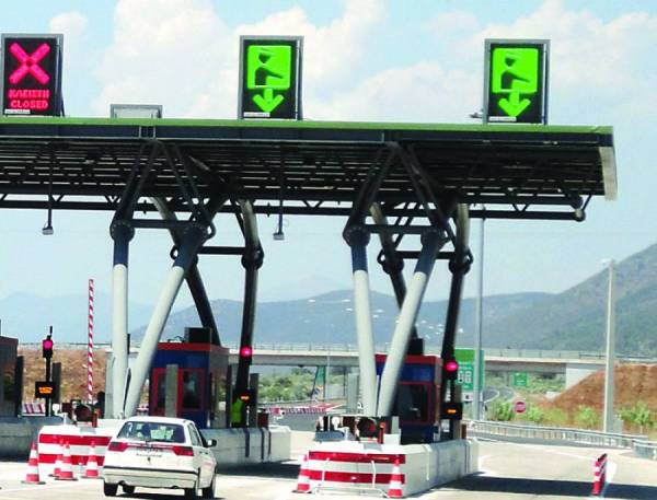 Νέες τιμές διοδίων στον αυτοκινητόδρομο Κόρινθος - Τρίπολη - Καλαμάτα από 1η Ιανουαρίου 2017