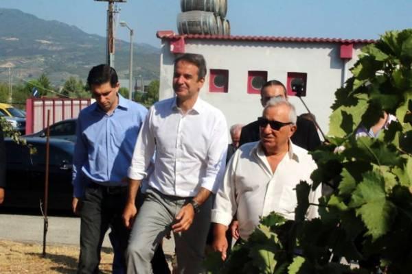 Νεμέα: Ρητή δέσμευση Μητσοτάκη για κατάργηση του ειδικού φόρου κατανάλωσης στο κρασί