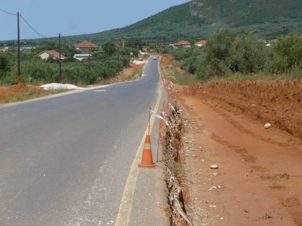 Προχωράει το έργο βελτίωσης  του δρόμου Σουληνάρι - Κορυφάσιο