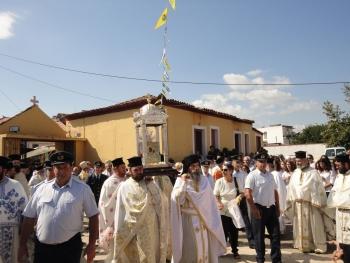 Πλήθος πιστών στην υποδοχή της εικόνας στη Μεσσήνη (φωτο)