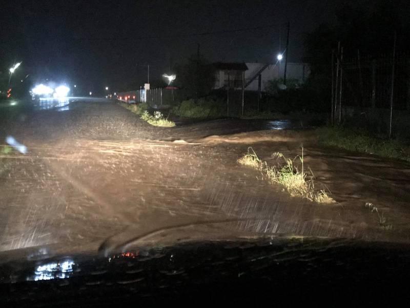 Πλημμύρισε η ΕΟ Κύπαρισσιας - Φιλιατρών
