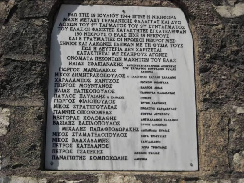 Εκδήλωση στο μνημείο μάχης της Αγορέλιτσας