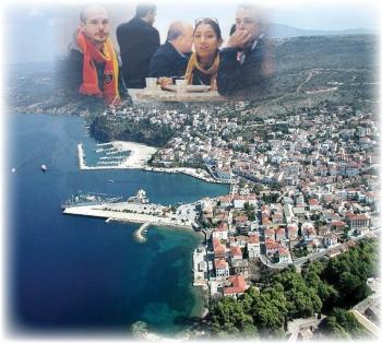 Τεράστια προβολή της Πύλου από το CNN Türk με αφορμή το γάμο Πόλατ-Γκινοσάτη