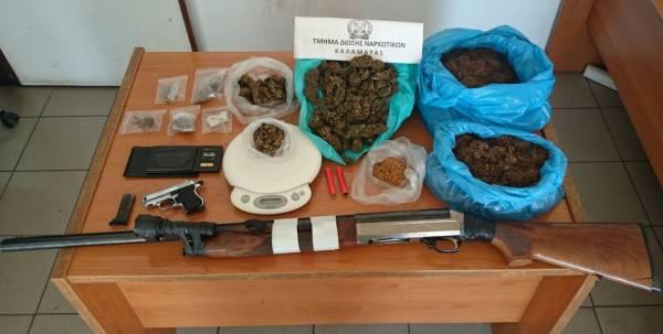 Δύο συλλήψεις για ναρκωτικά και λαθραίο καπνό στο Βασιλικό Μεσσηνίας