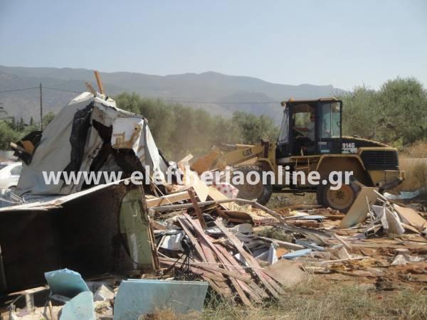 Εκτεταμένη αστυνομική επιχείρηση σε τσιγγάνικους καταυλισμούς στη Μεσσηνία (συνεχής ενημέρωση)