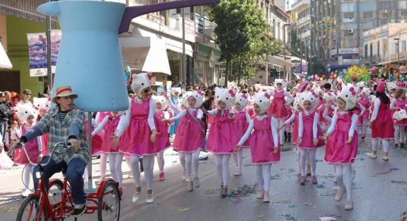 Πάτρα: Δείτε live την παρέλαση του Καρναβαλιού των Μικρών