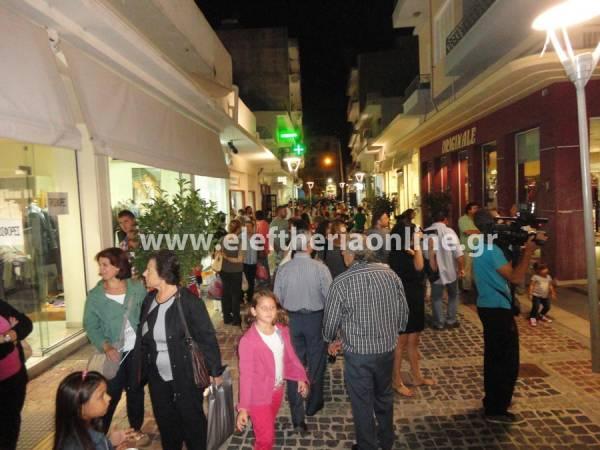 Πολύς κόσμος στη βραδινή γιορτή στην αγορά της Μεσσήνης