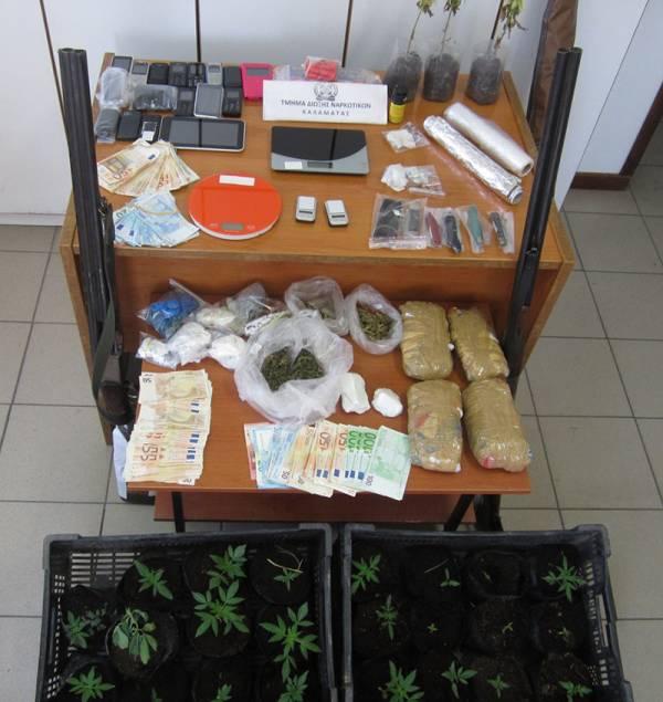 Μεσσηνία: Πάνω από 500 στο πελατολόγιο για χασίς και κοκαΐνη (βίντεο-φωτογραφίες)