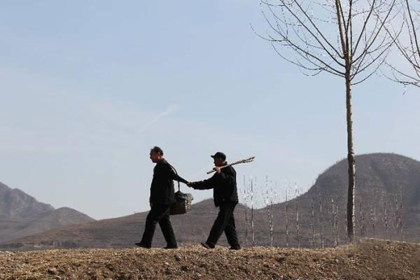 Δυο φίλοι, ο ένας τυφλός και ο άλλος χωρίς χέρια φύτεψαν 10.000 δέντρα σε 10 χρόνια