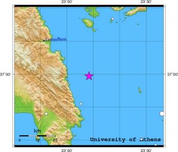 Σεισμός 4,4R στο Μυρτώο