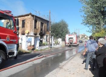 Κάηκε σπίτι μεταναστών στο Μαυρομάτι Παμίσου