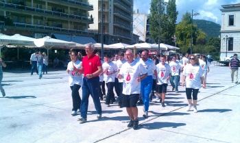 Λαμπαδηδρομία της Πανελλήνιας Ομοσπονδίας Εθελοντών Αιμοδοτών στην Τρίπολη