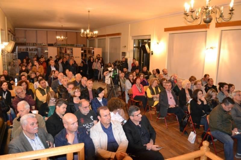 Επιχειρήματα κατά της εξόρυξης υδρογονανθράκων σε εκδήλωση στους Γαργαλιάνους